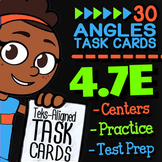 4.7E Math ★ ADJACENT ANGLES ★ 4th Grade Math TEK 4.7E ★ TEK-Aligned Task Cards