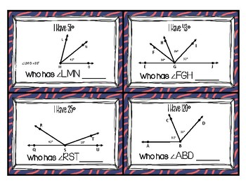4.7E Unknown Angles - I Have... Who Has?