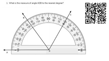 4.7c Measuring Angles with a Protractor (Pictorial) using