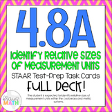 4.8A: Identifying Units of Measure STAAR Test-Prep Task Cards (GRADE 4)