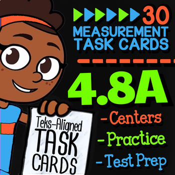 Math TEK 4.8A ★ Units of Measurement ★ 4th Grade Task Cards