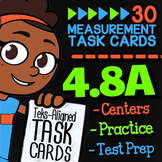 Math TEK 4.8A ★ Units of Measurement ★ 4th Grade Math STAAR Review Task Cards