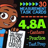 Math TEK 4.8A ★ Units of Measurement ★ 4th Grade Math STAAR Review Task Cards