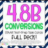 4.8B: Conversions STAAR Test-Prep Task Cards (4.MD.1, 4.MD.2)