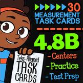 Math TEK 4.8B ★ Measurement Conversions ★ 4th Grade Math STAAR Review Task Cards