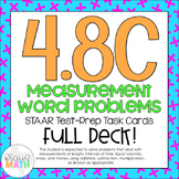 4.8C: Measurement & Conversions STAAR Test-Prep Task Cards (GRADE 4)