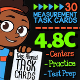 Math TEK 4.8C ★ Measurement Word Problems ★ 4th Grade Task Cards