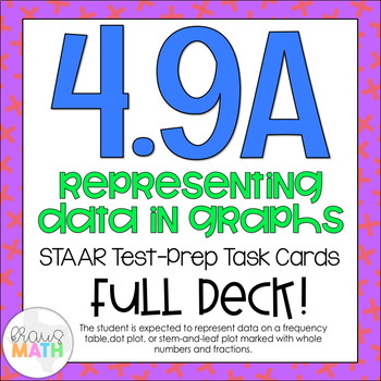 4.9A: Represet Data in Graphs STAAR Test-Prep Task Cards (4.MD.4)