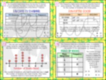4.9B: Data in Graphs STAAR Test-Prep Task Cards (4.MD.4)