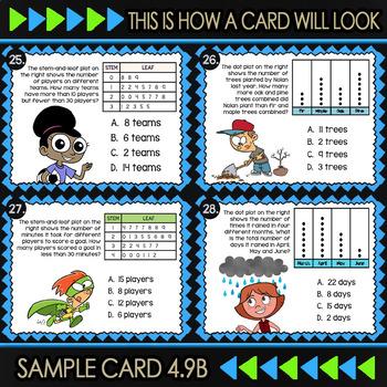 4.9B Representing Data ★ Math TEK 4.9B Task Cards ★ 4th Grade STAAR Math Review