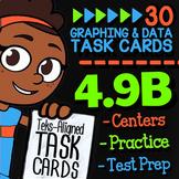 Math TEK 4.9B ★ Frequency Tables, Stem-and-Leaf & Dot Plots Task Cards
