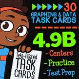Math TEK 4.9B ★ Frequency Tables, Stem-and-Leaf & Dot Plots Task Cards