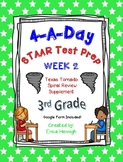4 A Day STAAR Test Prep-Week 2-3rd Grade Texas Tornado Spiral Review Supplement