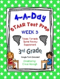 4 A Day STAAR Test Prep-Week 3-3rd Grade Texas Tornado Spiral Review Supplement