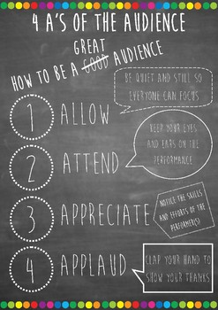 4 A's Of The Audience ( How to be a great audience_