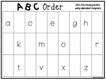 4 Abc Order Work Mats And Worksheets Preschool Kindergarten Phonics