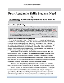 4 Academic Skills Students Need & One Strategy YOU Can Employ to Help Build Them