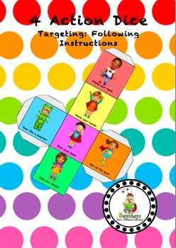 4 Action Dice for Following Instructions and Auditory Memory