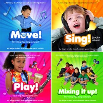 4 speech / music therapy & education CDs! Gr8 brain break taker 4 all learners.