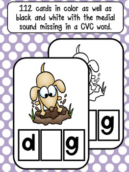BUNDLED CVC Word Work Activity Cards (CCSS)