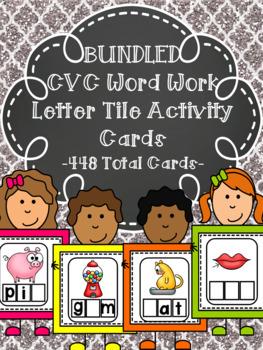 BUNDLED CVC Word Work Activity Cards (CCSS)