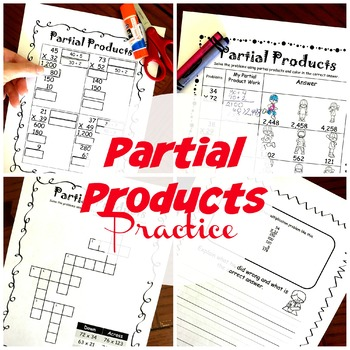 4 Activities to Practice Multiplication Using the Partial Products Method