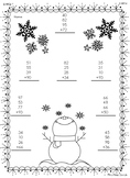 4 Addend Addition Snowflake Theme FREEBIE