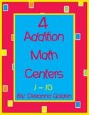 4 Addition Math Centers