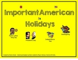 Important American Holidays