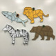 4 Animal Puzzles - Number Trivia - First Day of School Ice Breaker