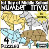 4 Animal Puzzles - Number Trivia - First Day of School Ice