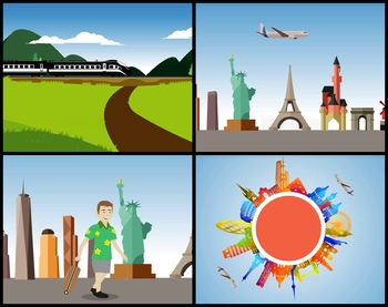 4 Animated Video Backgrounds - Travel #1
