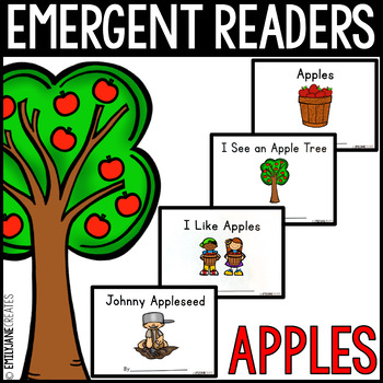 4 Apple Emergent Reader Books