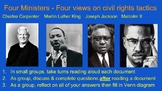 4 Approaches to Civil Rights, King, Malcolm X, Jackson, Cl