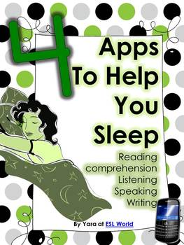 4 Apps To Help You Sleep {Reading Comprehension ESL}
