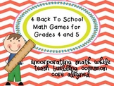 4 Back To School Math Games for 4th & 5th Grade Math While