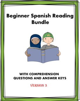 Beginner Spanish Readings: 4 Lecturas @30% off! (Version 3)