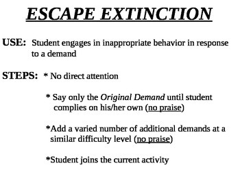 4 Behavior Protocols Escape Distinction, Accepting NO, Waiting, and Count + Mand