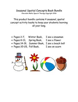 Seasonal Spatial Concepts -4 Book Bundle