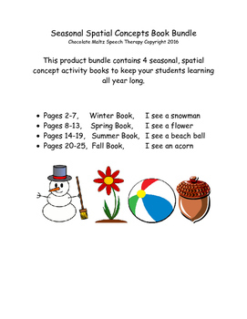 Seasonal Spatial Concepts -4 Book Bundle