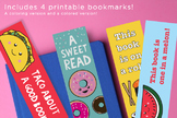 4 Bookmarks Printable   Coloring & Color Options!   Fun gifts for students.