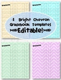 Editable Chevron Gradebook Templates -- Pack of 4