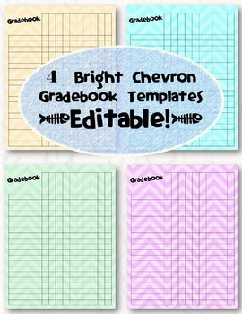 editable chevron gradebook templates pack of 4 by distinguished