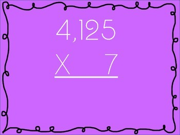 4 By 1-Digit Multiplication Practice Problems