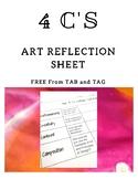 4 C's Art Self-Reflection - TAB