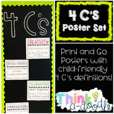 4 C's Classroom Poster Set; Collaboration and Critical Thi