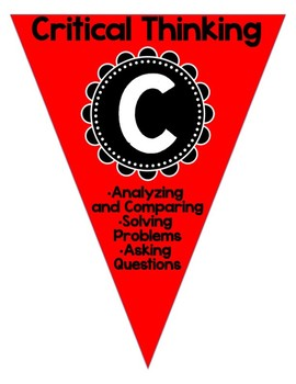 4 C's for the 21st Century Skills Red Bunting Set