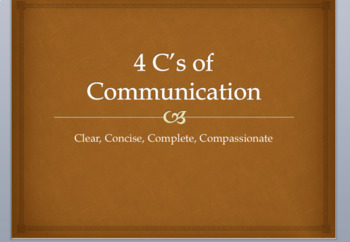 4 C's of Communication