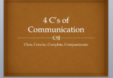 4 C's of Communication