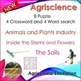 4 CROSSWORDS AND 4 WORD SEARCH - ANIMALS, PLANTS, SOILS, STEMS, FLOWERS